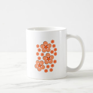 Orange mit Blumenprodukte Tasse