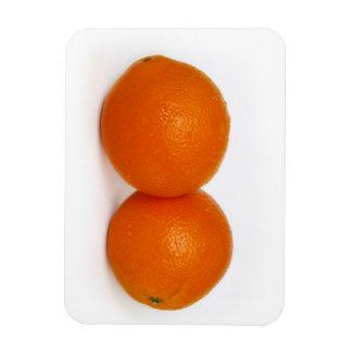 Orange mit Wassertropfen Magnet