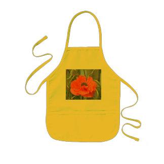 Orange Mohnblume Kinderschürze