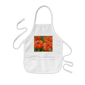 Orange Mohnblumen Kinderschürze
