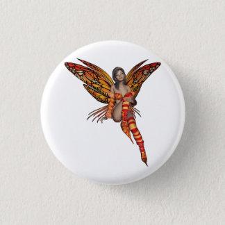 Orange Monarch-Elf-Schmetterlings-Fee 7 - Runder Button 2,5 Cm