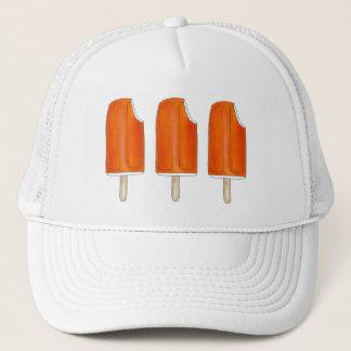Orange n Eiscreme Creamsicle Poppopsicles-Hut Truckerkappe