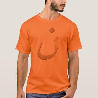 Orange N für Nazarine - auf Orange T-Shirt