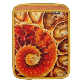 Orange Nautilus iPad Sleeve