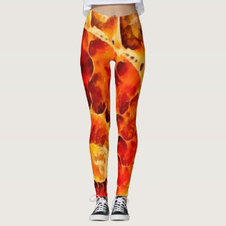 Orange Nautilus Leggings