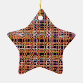 Orange Neon zeichnet Muster Keramik Ornament