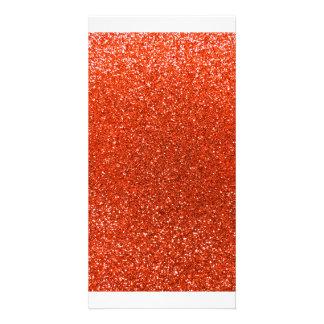 Orange NeonGlitter Individuelle Photo Karten