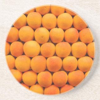 Orange neue Aprikosen-Entwürfe Getränkeuntersetzer