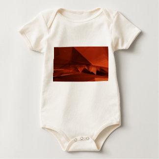 Orange niedriger baby strampler