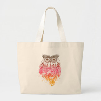 Orange Owl Dream catcher Jumbo Stoffbeutel