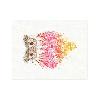 Orange Owl Dream catcher Leinwanddruck