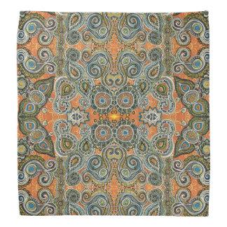 orange Paisley-Bandanna Halstuch