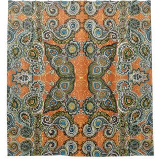 orange Paisley-Duschvorhang Duschvorhang