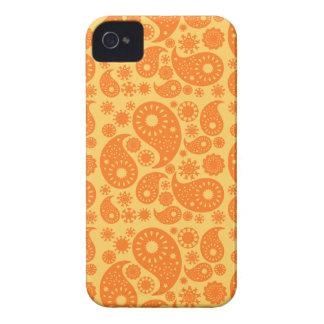 Orange Paisley Case-Mate iPhone 4 Hüllen