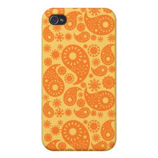 Orange Paisley iPhone 4 Cover