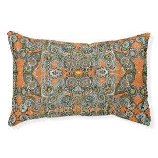 orange Paisley-Musterhundebett Haustierbett