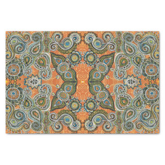 orange Paisley-MusterSeidenpapier Seidenpapier