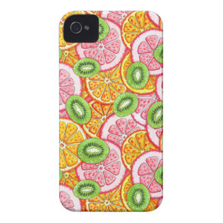Orange Pampelmuse und Kiwi des Sommermusters Case-Mate iPhone 4 Hülle