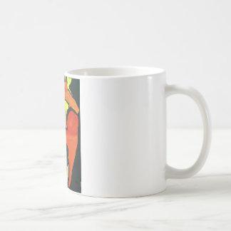 Orange Papagei Kaffeetasse