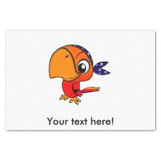 Orange Papageien-Cartoon Seidenpapier