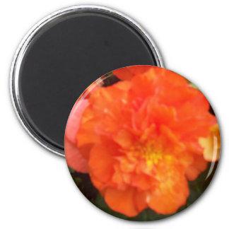 Orange Pfingstrose Runder Magnet 5,1 Cm