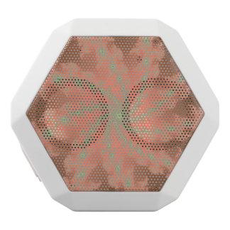 Orange Pfirsich-Fraktal-Strudel Bluetooth Weiße Bluetooth Lautsprecher