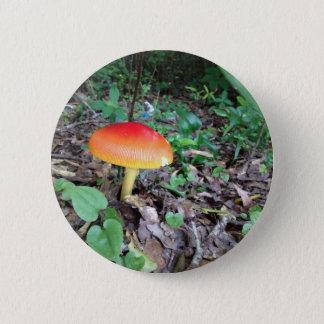Orange Pilz im Wald Runder Button 5,7 Cm