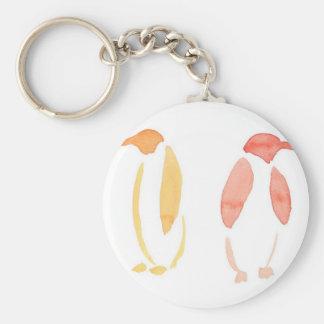 Orange Pinguine Schlüsselanhänger
