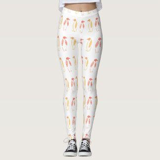 Orange PinguinLeggins Leggings