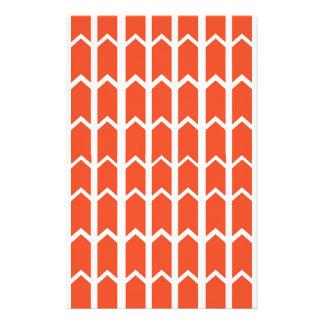 Orange Platten-Zaun Briefpapier