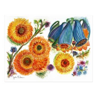 Orange Postkarte der Mama-78