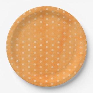 Orange Punkt Pappteller