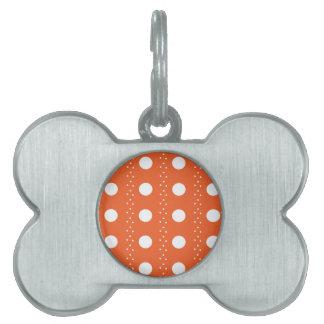 Orange Punkt-Streifen Tiermarke