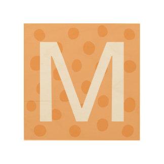 Orange Punkte mit der Raum-Dekor der Holzwanddeko
