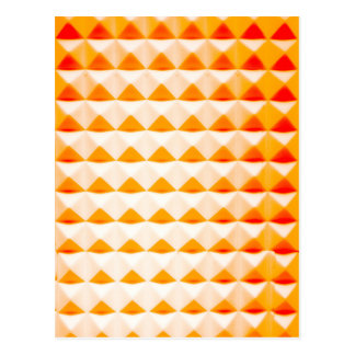 Orange Pyramide-Rüttler Postkarte