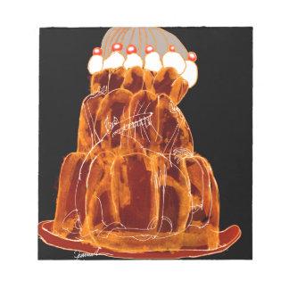 orange Ratte das jello der tony fernandess Notizblock
