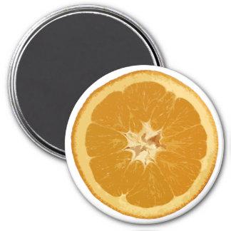 orange. realistisch runder magnet 7,6 cm