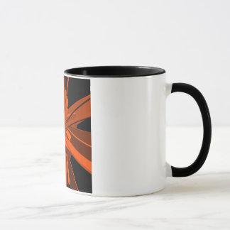 Orange Rechtecke Tasse