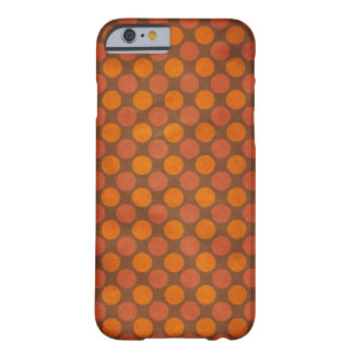 Orange retro Vintages Kreismuster Barely There iPhone 6 Hülle