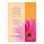 Orange rosa 12,7 x 17,8 cm einladungskarte