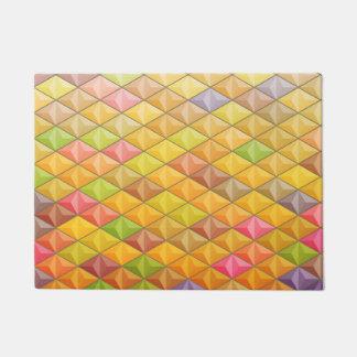 Orange rosa Kubismus-geometrisches Muster Türmatte