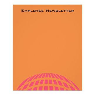 orange rosa moderner globaler Kreis 11,4 X 14,2 Cm Flyer