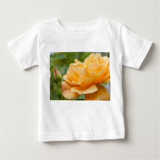 Orange Rose Painterly Baby T-shirt