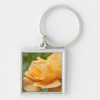 Orange Rose Painterly Schlüsselanhänger