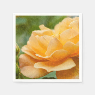 Orange Rose Painterly Serviette