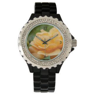 Orange Rose Painterly Uhr