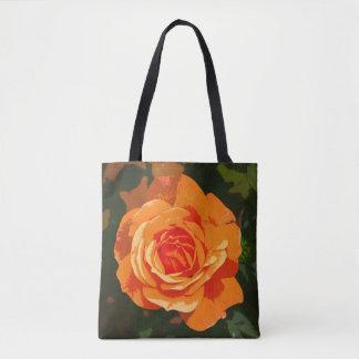 Orange Rose Tasche