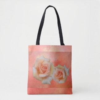 Orange Rosen-abstrakte Taschen-Tasche Tasche