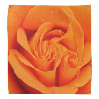 Orange Rosen-Blume der Bandanna retro rockabilly Kopftuch