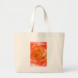 Orange Rosen-Nahaufnahme Jumbo Stoffbeutel